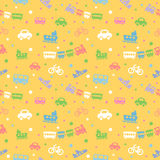Seamless pattern with cute baby toys. Royalty Free Stock Photo