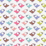 Seamless pattern with cute birds Stock Photos