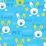 Seamless pattern with cute bunny Stock Photography