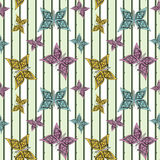 seamless pattern , cute  butterflies white background. Royalty Free Stock Image