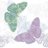 Seamless Pattern with cute butterfly's.  Stock Image