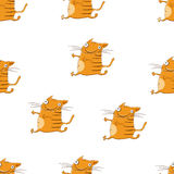 Seamless pattern with cute cartoon cats for your design Royalty Free Stock Images