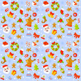 Seamless pattern with cute cartoon Christmas mittens Royalty Free Stock Photography