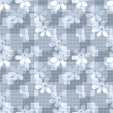 Seamless pattern with cute cartoon flowers background Royalty Free Stock Image