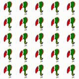 Seamless pattern with cute cartoon parrots royalty free illustration