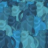 Seamless pattern of cute cartoon . Vector illustration Stock Photos