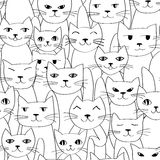 Seamless pattern with cute cats royalty free illustration