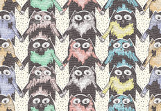 Seamless pattern with cute cats. For children or kids Royalty Free Stock Photos