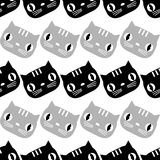 Seamless pattern with Cute Cats. Funny lovely Cats. Cloth design, wallpaper. Textile rapport stock illustration