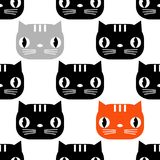 Seamless pattern with Cute Cats. Funny lovely Cats. Cloth design, wallpaper. Textile rapport royalty free illustration