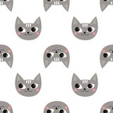 Seamless pattern cute cats for kids holidays. Stock Photography
