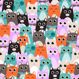 Seamless pattern with cute cats for kids. Vector illustration. Royalty Free Stock Image