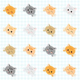 Seamless pattern with cute cats. Kitten texture, endless background. Stock Images