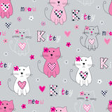 Seamless pattern with cute cats Royalty Free Stock Images