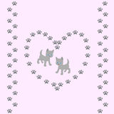 Seamless pattern with cute cats on pink background Royalty Free Stock Photo