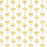 Seamless pattern with cute chiсkens. Royalty Free Stock Photo