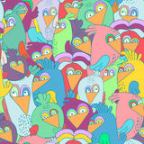 Seamless pattern with cute colorful birds. Perfectly look on fabric,textile,web,etc. Vector Illustration. Stock Photography