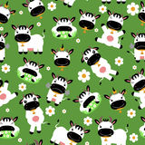 Seamless pattern with cute cows Royalty Free Stock Image