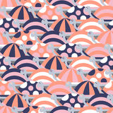 Seamless pattern with cute different turtles Royalty Free Stock Photo