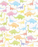 Seamless pattern of cute dinosaurs Royalty Free Stock Photography