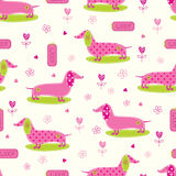 Seamless pattern with cute dog Royalty Free Stock Images