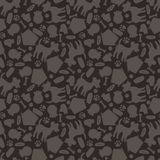 Seamless pattern with cute dogs, icons and objects Royalty Free Stock Photography