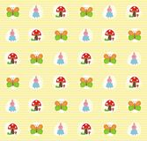 Seamless pattern with cute elements Royalty Free Stock Photos