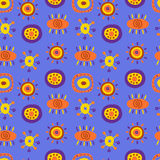 Seamless pattern with cute ethnic patterns Royalty Free Stock Photography