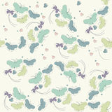 Seamless pattern with cute flowers , butterflies and hearts Stock Image
