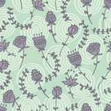Seamless pattern with cute flowers Royalty Free Stock Photo