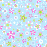 Seamless pattern with cute flowers. Royalty Free Stock Photos