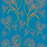 Seamless pattern with cute flowers Stock Photography