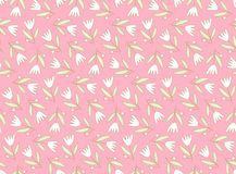 Seamless pattern with cute flowers Stock Images
