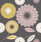 Seamless pattern with cute flowers.  Royalty Free Stock Photography