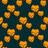 Seamless pattern with cute foxes Royalty Free Stock Image