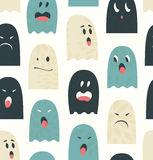 Seamless pattern with cute ghosts  Spooks background Royalty Free Stock Image