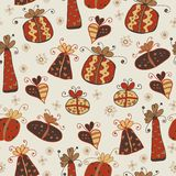 Seamless pattern with cute gifts Royalty Free Stock Photos