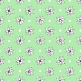 Seamless pattern with cute graphic flowers. Seamless pattern can be used for wallpaper, pattern fill, web page background, surface. Seamless pattern with cute Stock Photos