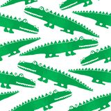 Seamless pattern with cute crocodiles royalty free stock images