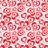 seamless pattern , cute heart. white background . Stock Photography