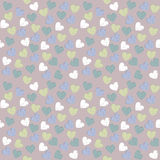 Seamless pattern with cute hearts.  Stock Photography