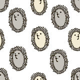 Seamless pattern with cute hedgehog in scandinavian style. Creative  childish background for fabric, textile. Stock Images