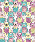 Seamless pattern with cute hipster bears Royalty Free Stock Photo