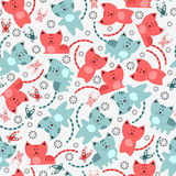Seamless pattern with kittens Royalty Free Stock Photography