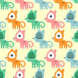 Seamless pattern with cute kittens Stock Photography