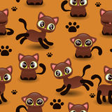 Seamless pattern with cute kittens Royalty Free Stock Photography