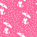 Seamless pattern with cute kitties Stock Image
