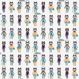 Seamless pattern with cute kitties Royalty Free Stock Photography