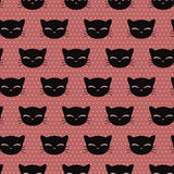 Seamless pattern with cute kitty faces Royalty Free Stock Photography