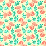 Seamless pattern with cute koala bears and leaves. Repeating background for childrens textile prints, wrapping paper. stock illustration